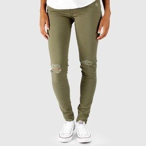 Like new 535 Super Skinny Levi's Jeans -Army Green